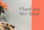 Thank you Mrs Roodt